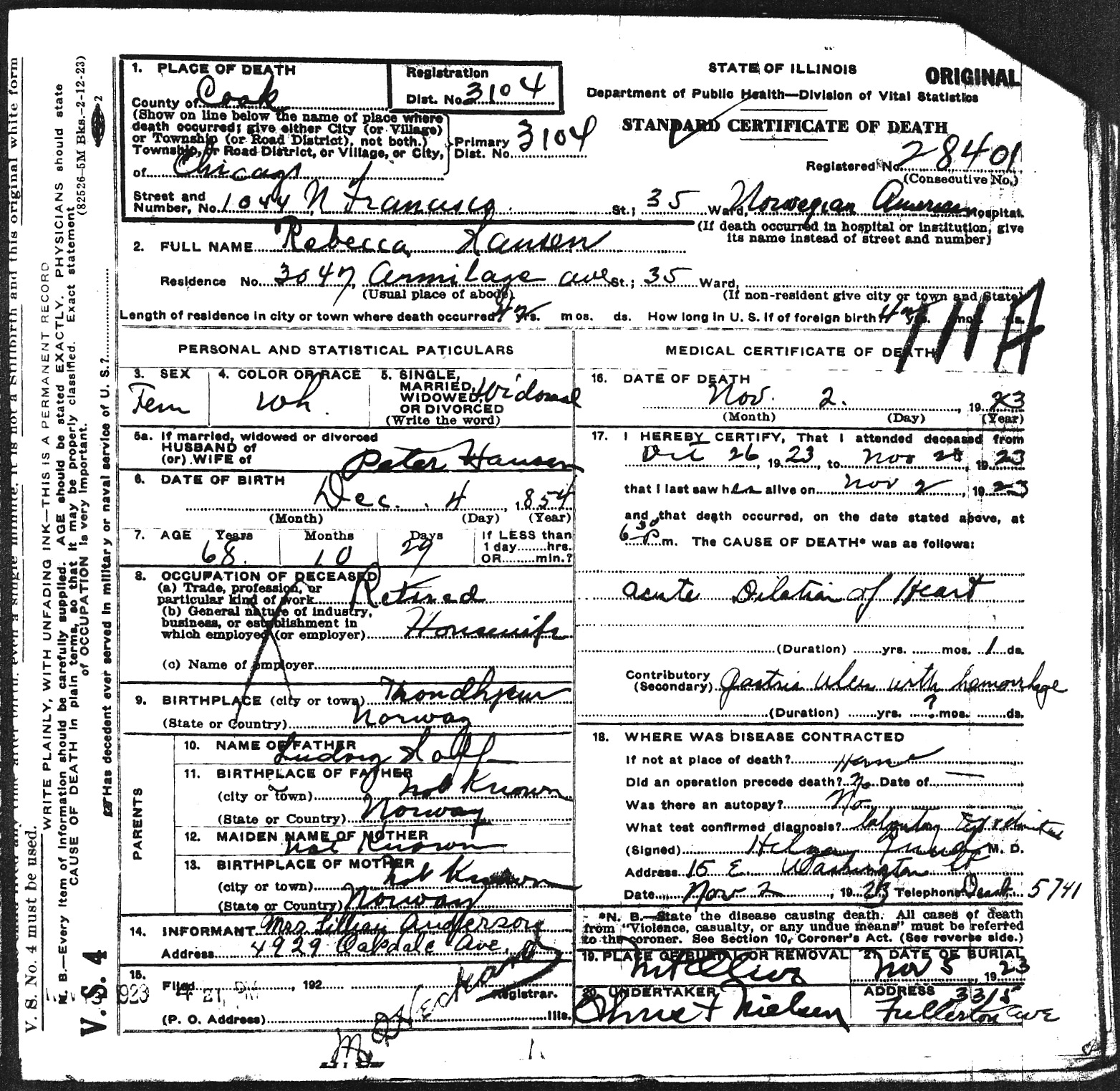 Connie nelsons genealogy death records index hansen rebecca 1betcityfo Image collections