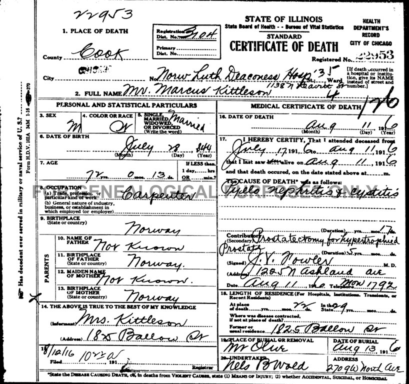 connie nelson's genealogy - death records index