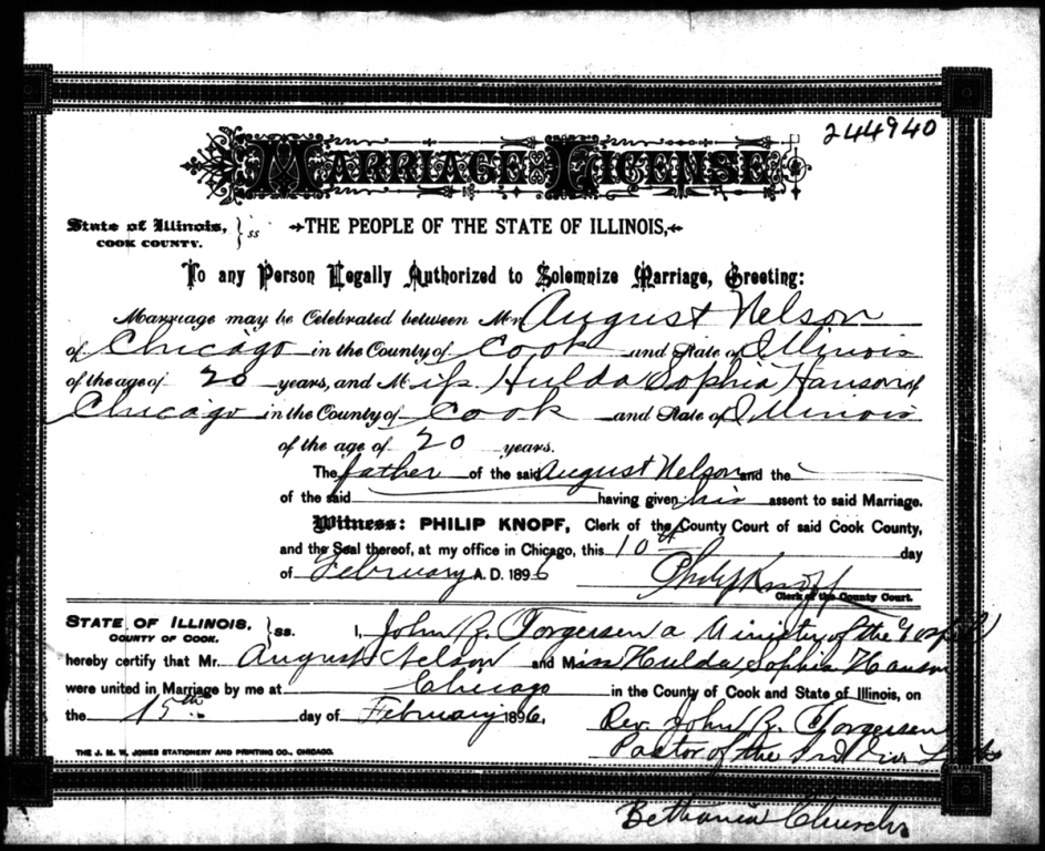 Connie Nelson\'s Genealogy - Marriage Records Index