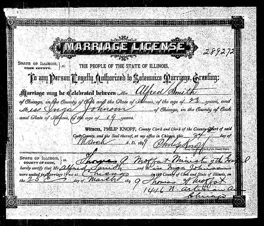 Marriage Records: Connie Nelson's Genealogy