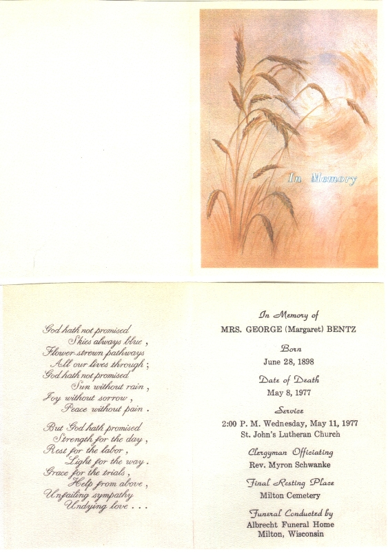 Connie Nelson S Genealogy Memorial Cards Index