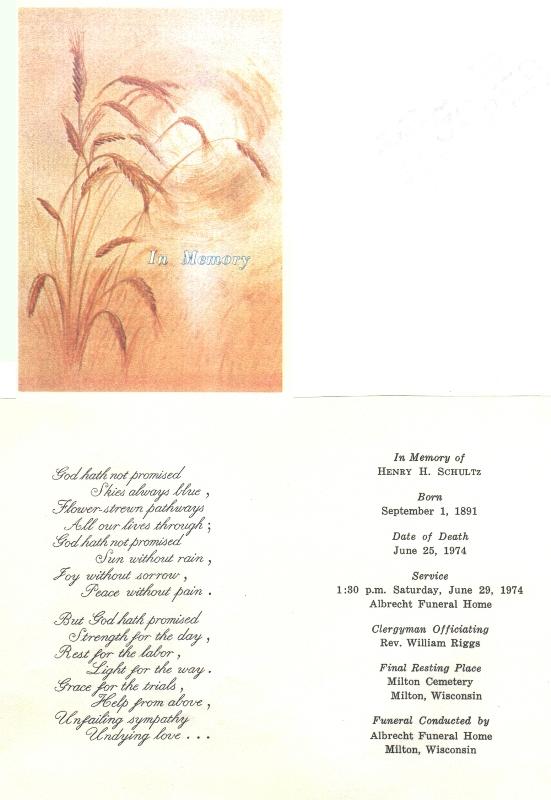 Connie Nelson S Bentz Genealogy Memorial Cards Index